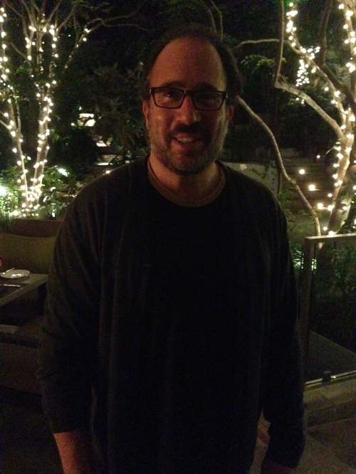 Chef Michael Schlow all smiles at the Sunset Marquis hotel.